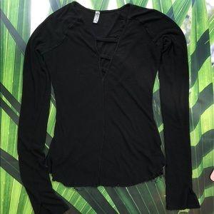 Free People long sleeve knit shirt Intimately M